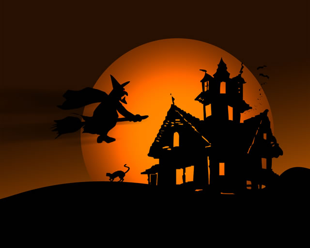 halloween-witch-flying