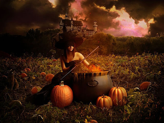 Halloween witch lovely